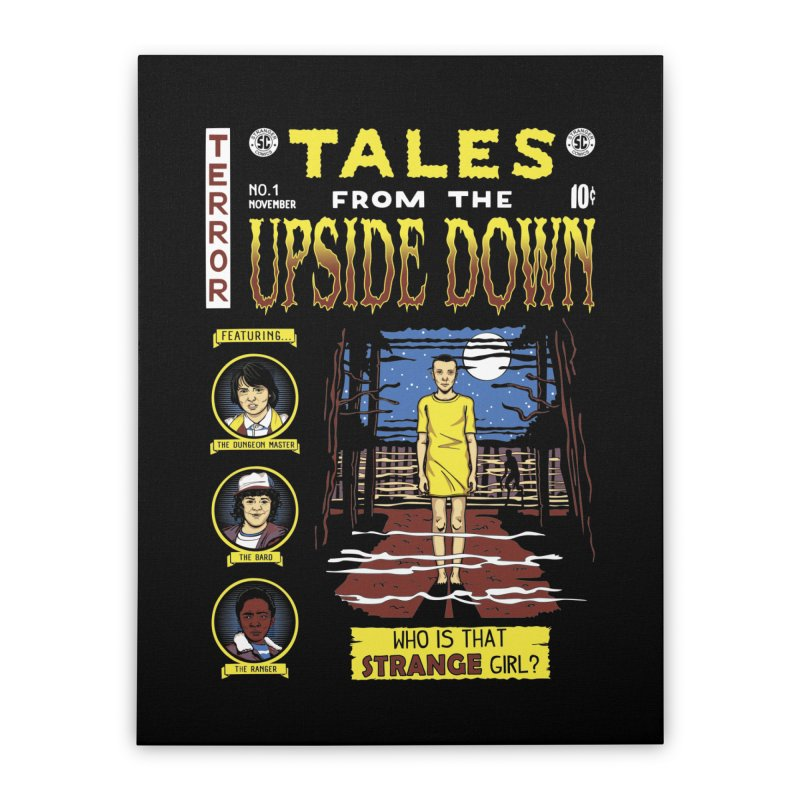 Tales from the Upside Down Home Stretched Canvas by Olipop Art & Design Shop
