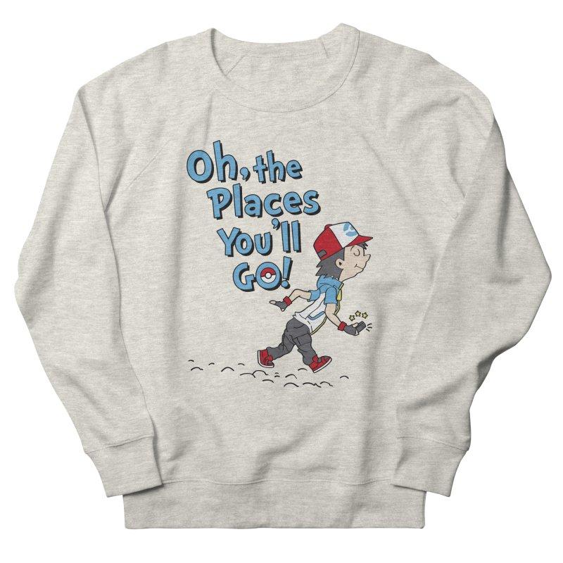 Go Trainer Go! Men's French Terry Sweatshirt by Olipop Art & Design Shop