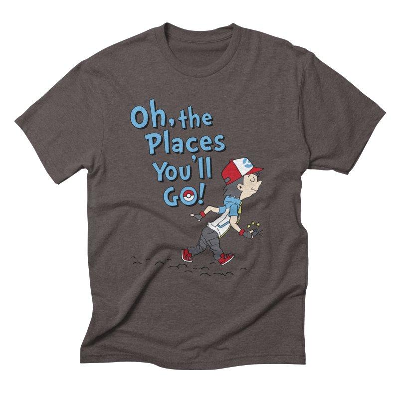 Go Trainer Go! Men's Triblend T-Shirt by Olipop Art & Design Shop