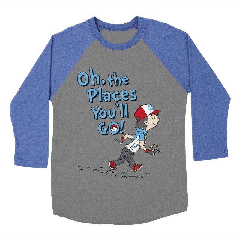 Go Trainer Go! Men's Baseball Triblend Longsleeve T-Shirt by Olipop Art & Design Shop