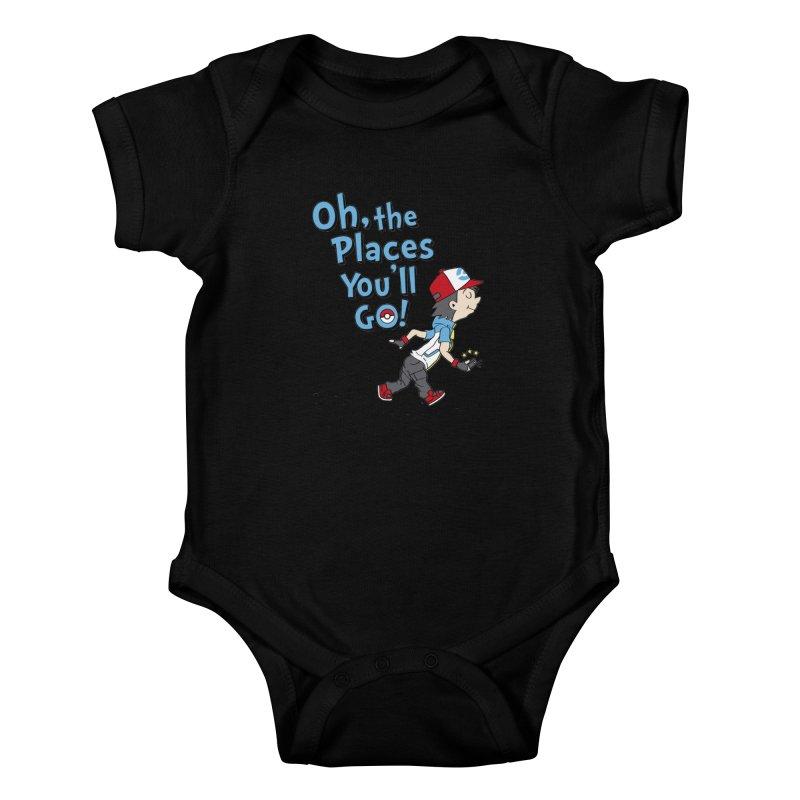 Go Trainer Go! Kids Baby Bodysuit by Olipop Art & Design Shop