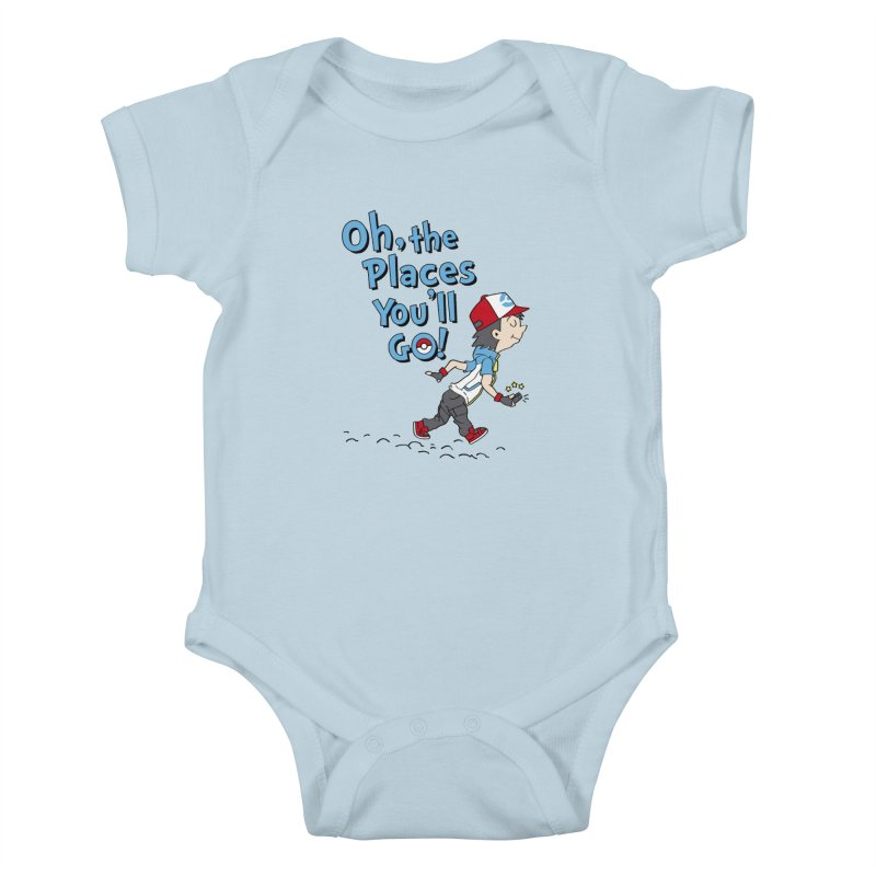 Go Trainer Go! Kids Baby Bodysuit by Olipop Art & Design Shop