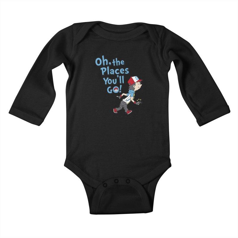 Go Trainer Go! Kids Baby Longsleeve Bodysuit by Olipop Art & Design Shop