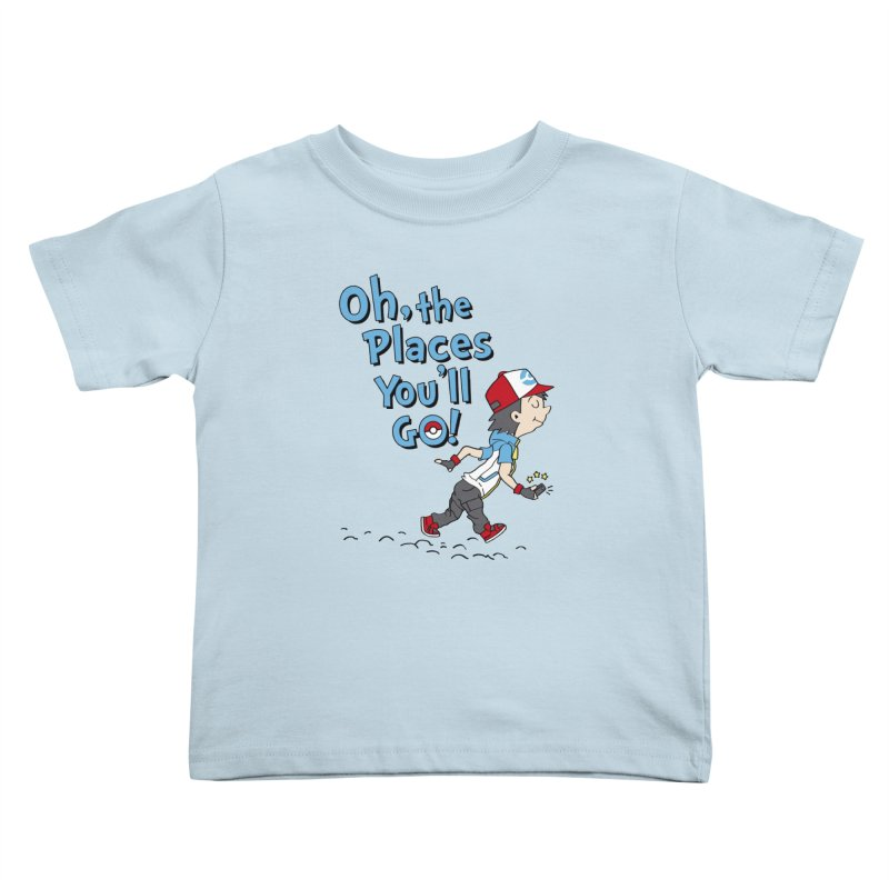 Go Trainer Go! Kids Toddler T-Shirt by Olipop Art & Design Shop