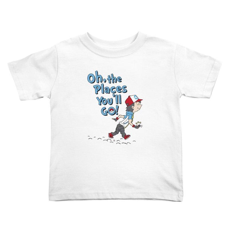 Go Trainer Go! Kids Toddler T-Shirt by Olipop Art & Design Shop