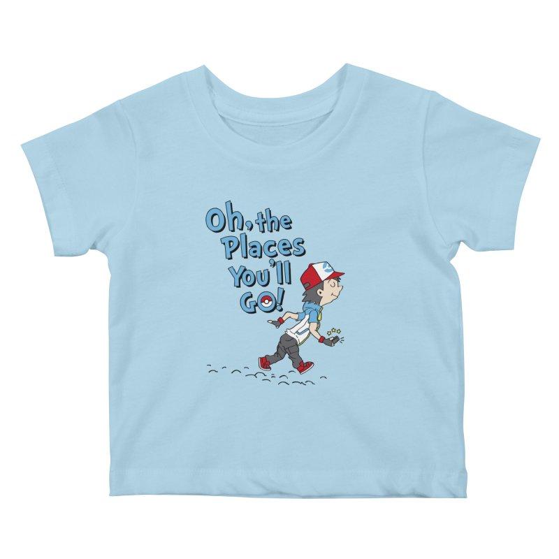 Go Trainer Go! Kids Baby T-Shirt by Olipop Art & Design Shop