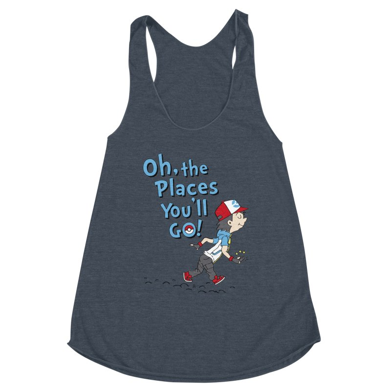 Go Trainer Go! Women's Racerback Triblend Tank by Olipop Art & Design Shop