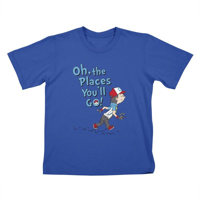 Go Trainer Go! Kids T-Shirt by Olipop Art & Design Shop