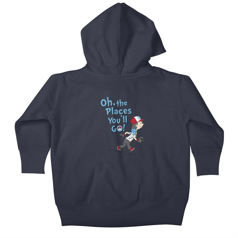Go Trainer Go! Kids Baby Zip-Up Hoody by Olipop Art & Design Shop