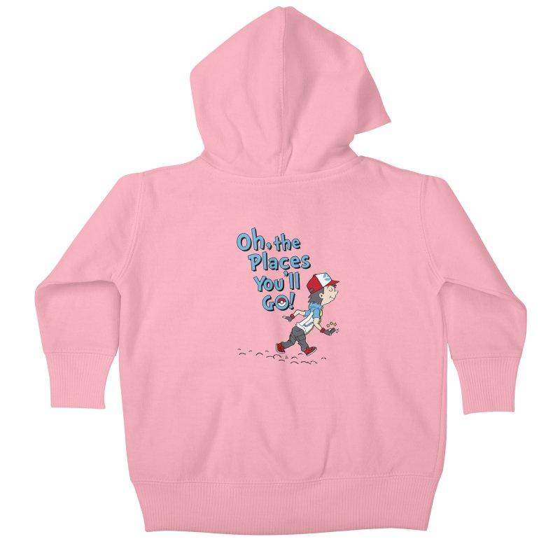 Go Trainer Go! Kids Baby Zip-Up Hoody by Olipop Art & Design Shop