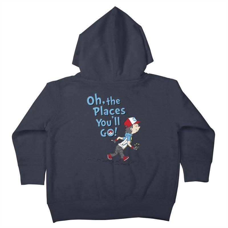 Go Trainer Go! Kids Toddler Zip-Up Hoody by Olipop Art & Design Shop