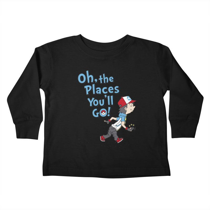 Go Trainer Go! Kids Toddler Longsleeve T-Shirt by Olipop Art & Design Shop