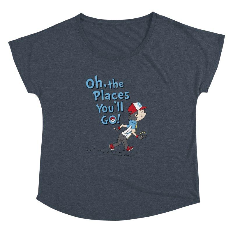 Go Trainer Go! Women's Dolman Scoop Neck by Olipop Art & Design Shop