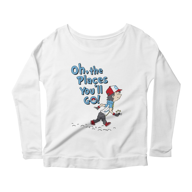 Go Trainer Go! Women's Scoop Neck Longsleeve T-Shirt by Olipop Art & Design Shop