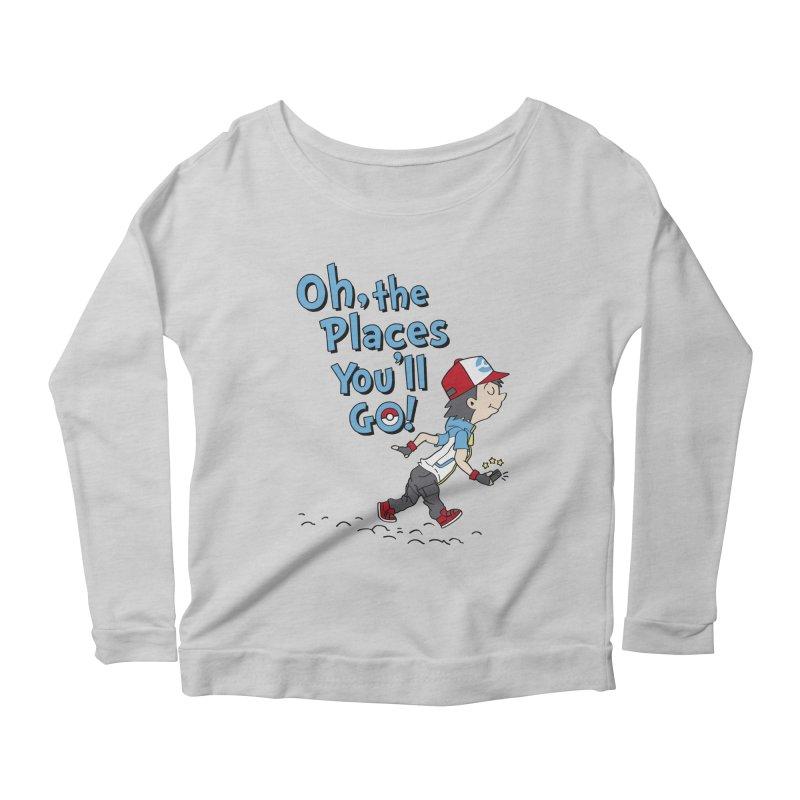Go Trainer Go! Women's Scoop Neck Longsleeve T-Shirt by Olipop Art & Design Shop