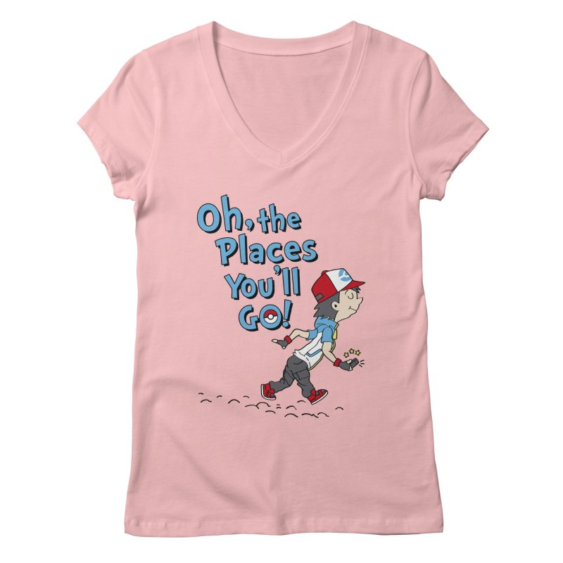 Go Trainer Go! Women's Regular V-Neck by Olipop Art & Design Shop
