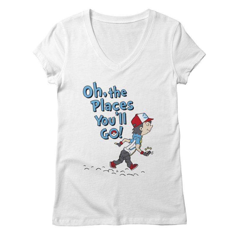 Go Trainer Go! Women's Regular V-Neck by Olipop Art & Design Shop