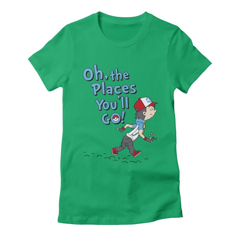 Go Trainer Go! Women's Fitted T-Shirt by Olipop Art & Design Shop