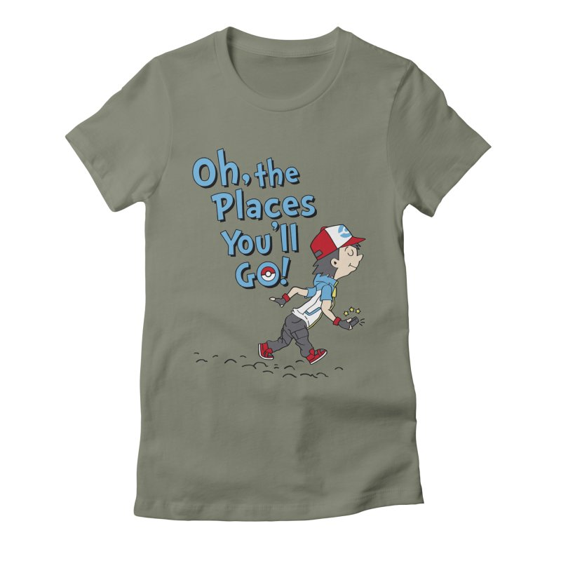 Go Trainer Go! Women's Fitted T-Shirt by Olipop Art & Design Shop