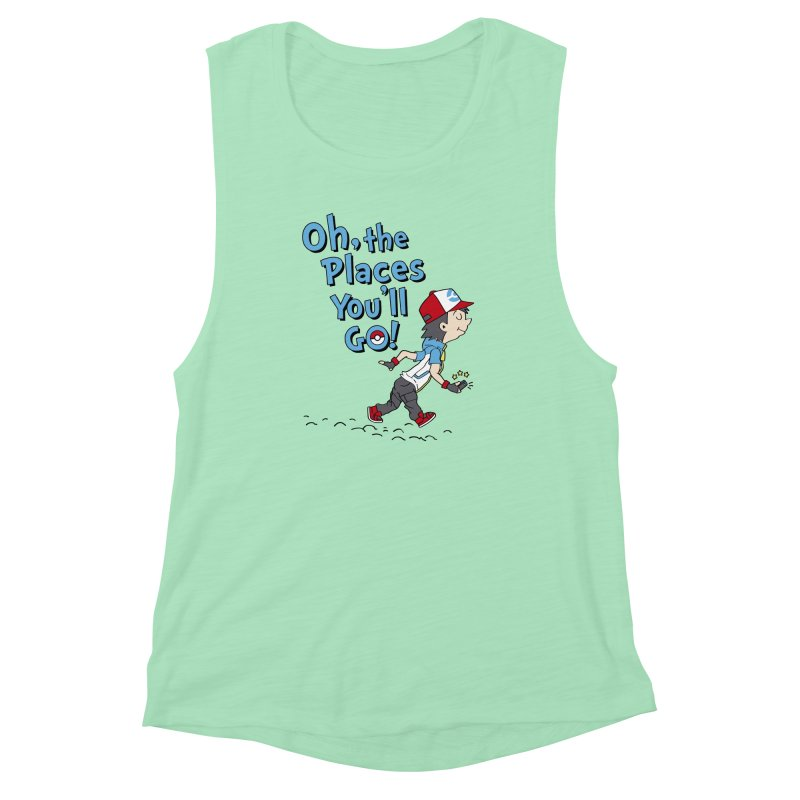 Go Trainer Go! Women's Muscle Tank by Olipop Art & Design Shop