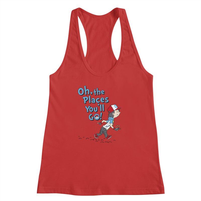 Go Trainer Go! Women's Racerback Tank by Olipop Art & Design Shop
