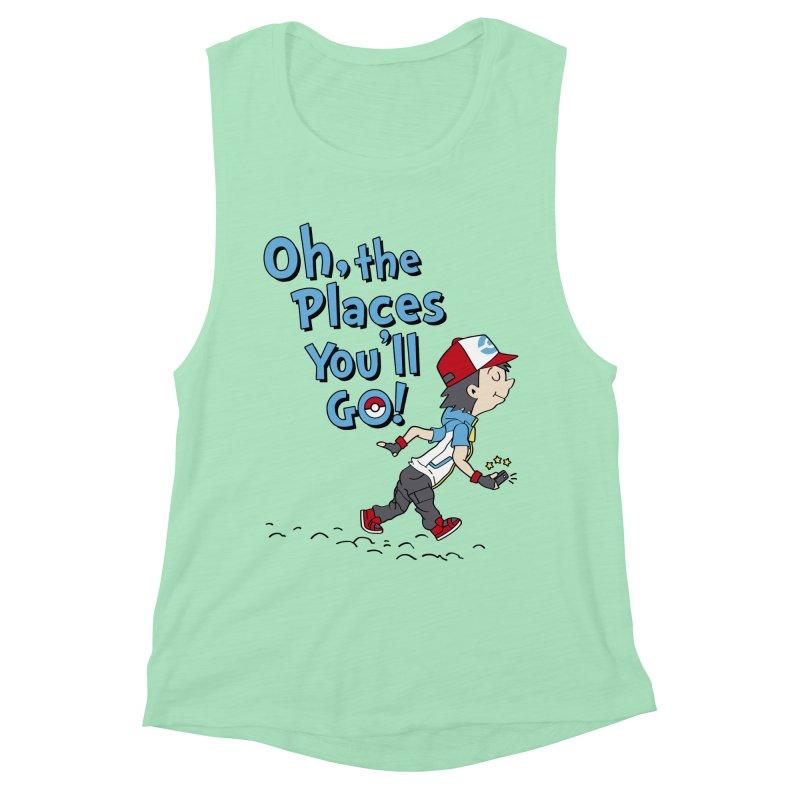 Go Trainer Go! Women's Muscle Tank by Olipop Art & Design Shop