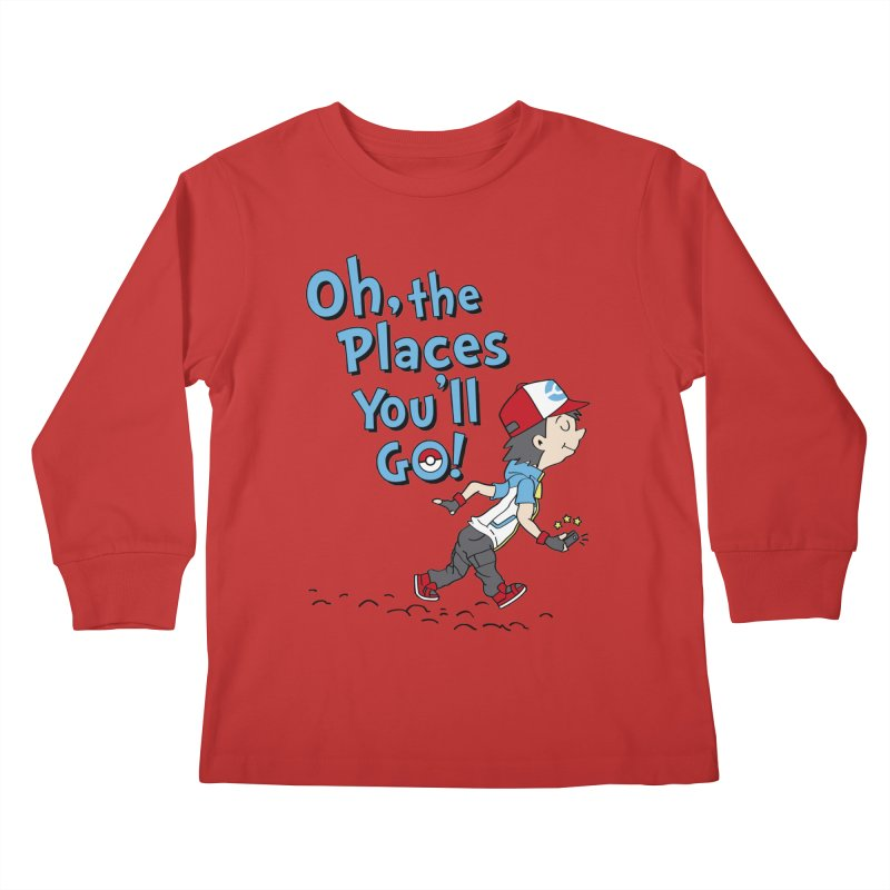 Go Trainer Go! Kids Longsleeve T-Shirt by Olipop Art & Design Shop