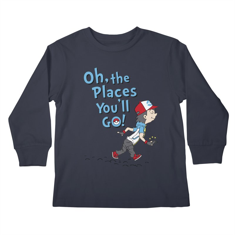 Go Trainer Go! Kids Longsleeve T-Shirt by Olipop Art & Design Shop