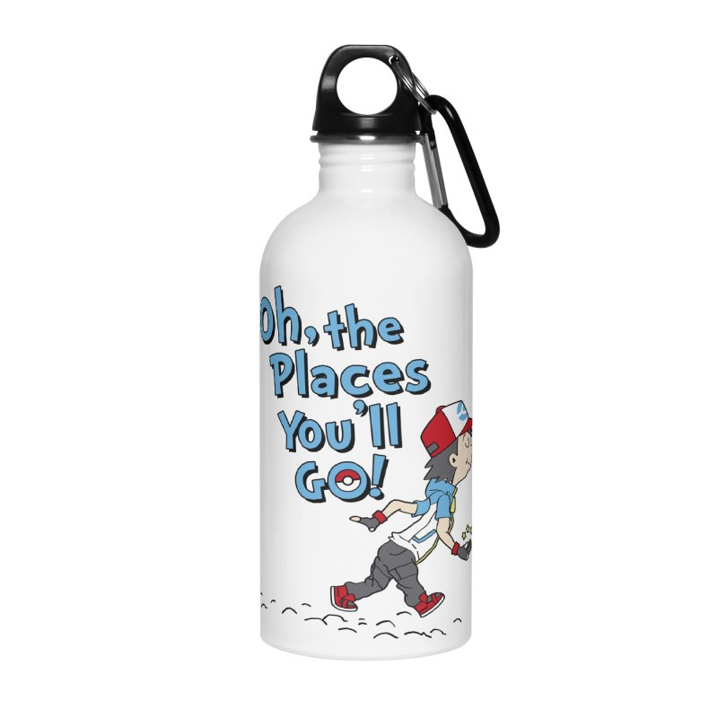 Go Trainer Go! Accessories Water Bottle by Olipop Art & Design Shop