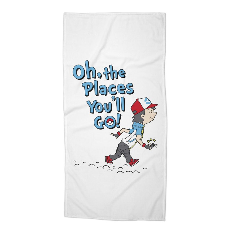 Go Trainer Go! Accessories Beach Towel by Olipop Art & Design Shop