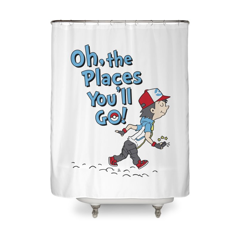Go Trainer Go! Home Shower Curtain by Olipop Art & Design Shop