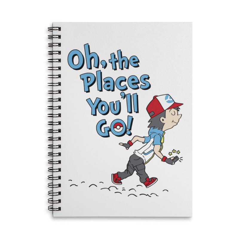 Go Trainer Go! Accessories Lined Spiral Notebook by Olipop Art & Design Shop