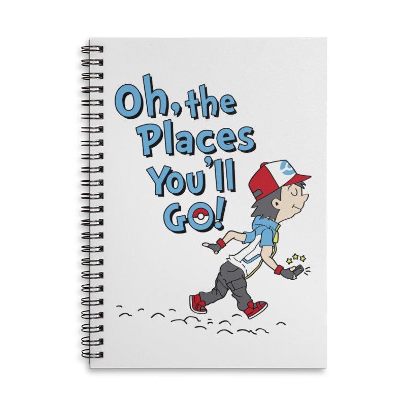 Go Trainer Go! Accessories Lined Spiral Notebook by Olipop Art & Design Shop