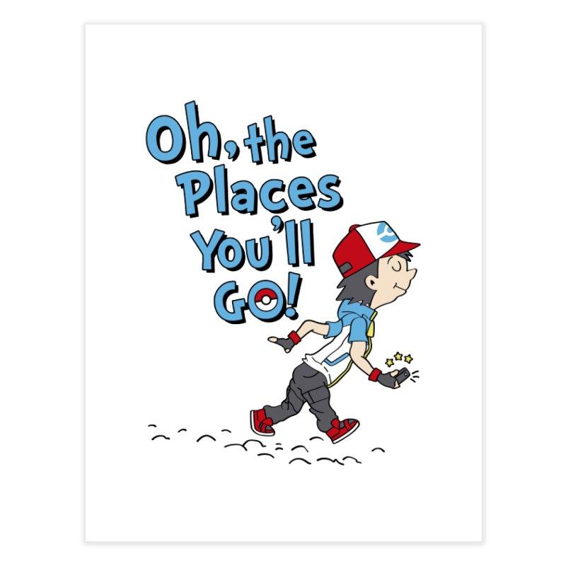 Go Trainer Go! Home Fine Art Print by Olipop Art & Design Shop