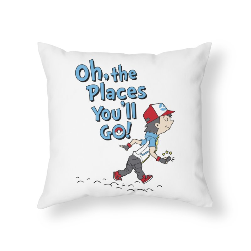 Go Trainer Go! Home Throw Pillow by Olipop Art & Design Shop