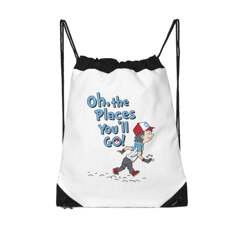 Go Trainer Go! Accessories Drawstring Bag Bag by Olipop Art & Design Shop