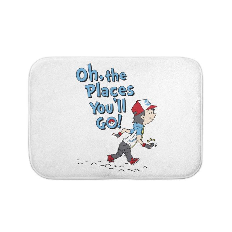 Go Trainer Go! Home Bath Mat by Olipop Art & Design Shop
