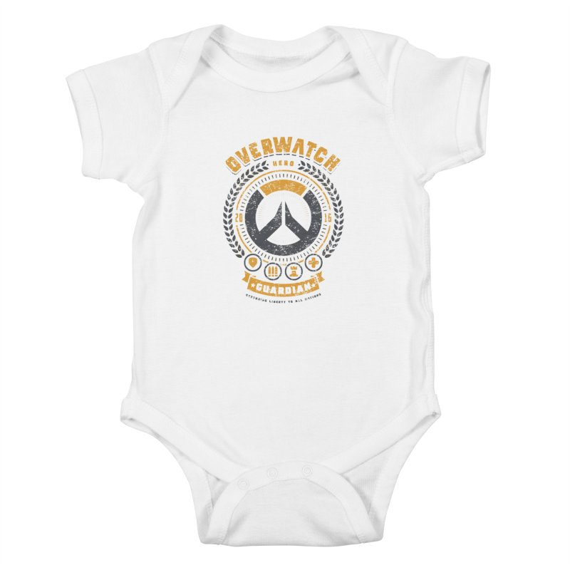 Guardian Hero Kids Baby Bodysuit by Olipop Art & Design Shop