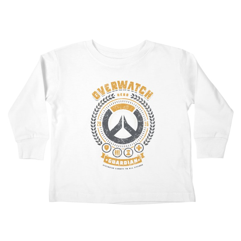 Guardian Hero Kids Toddler Longsleeve T-Shirt by Olipop Art & Design Shop