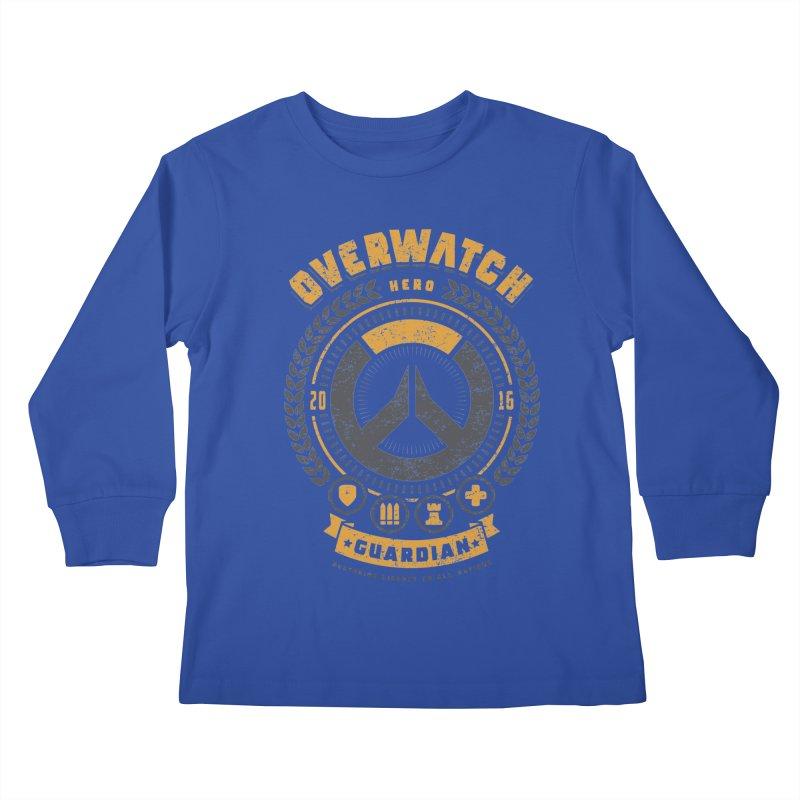Guardian Hero Kids Longsleeve T-Shirt by Olipop Art & Design Shop