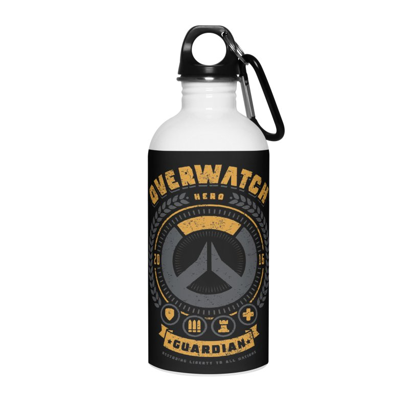 Guardian Hero Accessories Water Bottle by Olipop Art & Design Shop