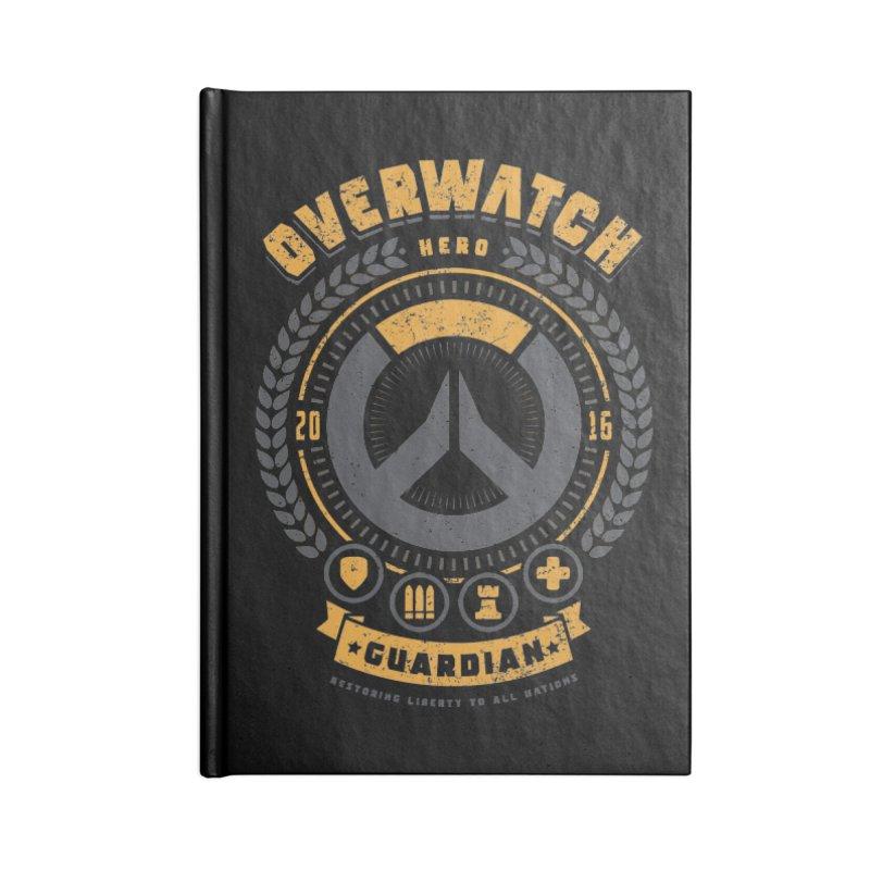 Guardian Hero Accessories Blank Journal Notebook by Olipop Art & Design Shop