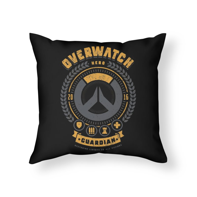 Guardian Hero Home Throw Pillow by Olipop Art & Design Shop