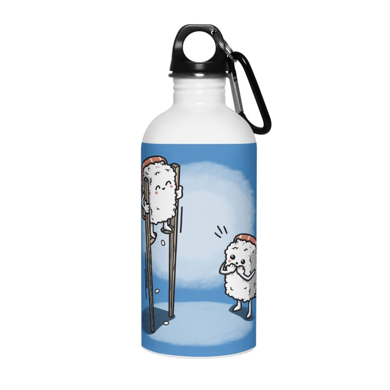 Sushi in Chopsticks Accessories Water Bottle by Olipop Art & Design Shop