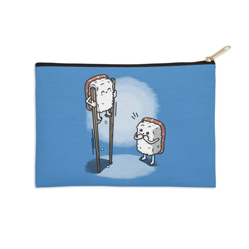 Sushi in Chopsticks Accessories Zip Pouch by Olipop Art & Design Shop