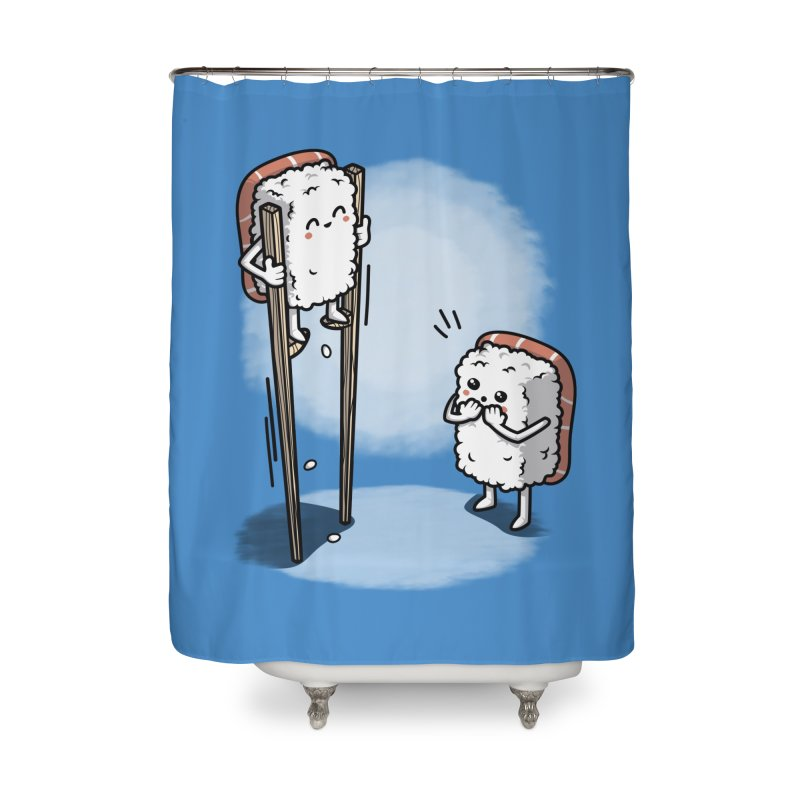 Sushi in Chopsticks Home Shower Curtain by Olipop Art & Design Shop