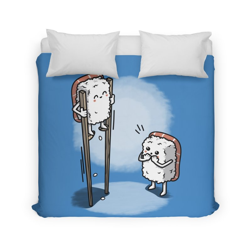 Sushi in Chopsticks Home Duvet by Olipop Art & Design Shop