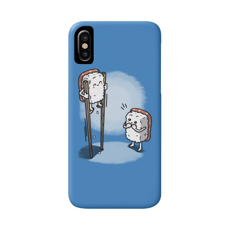 Sushi in Chopsticks Accessories Phone Case by Olipop Art & Design Shop
