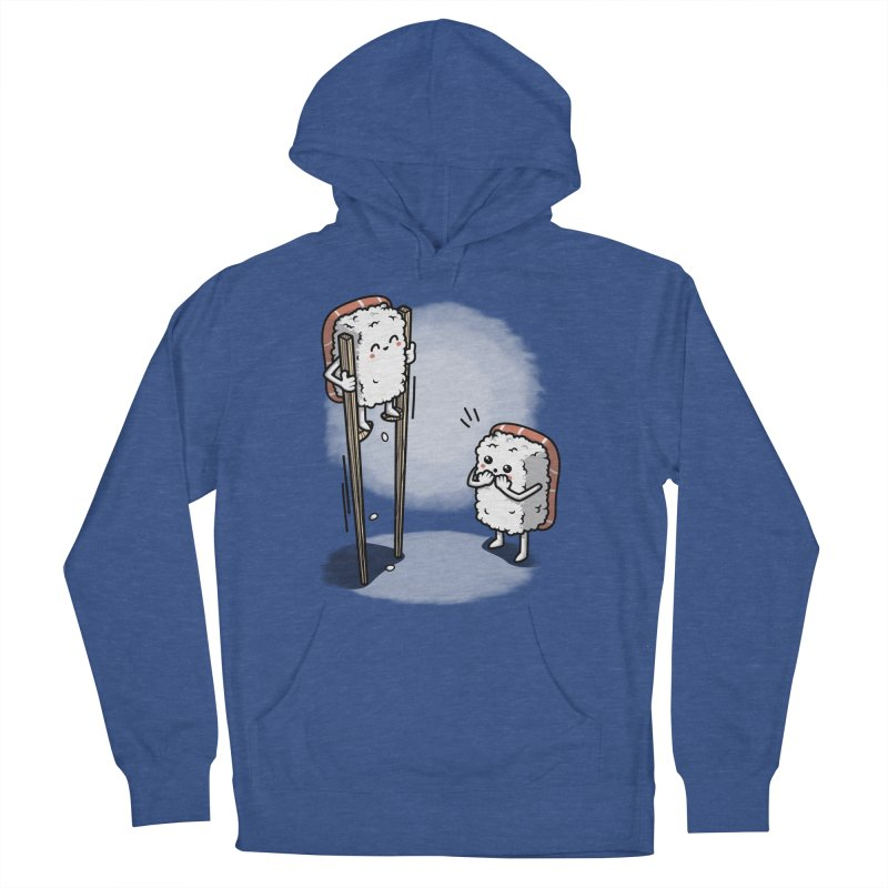 Sushi in Chopsticks Women's French Terry Pullover Hoody by Olipop Art & Design Shop