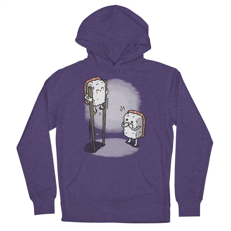 Sushi in Chopsticks Men's French Terry Pullover Hoody by Olipop Art & Design Shop